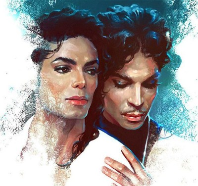 MJ and Prince by Ali Franc
